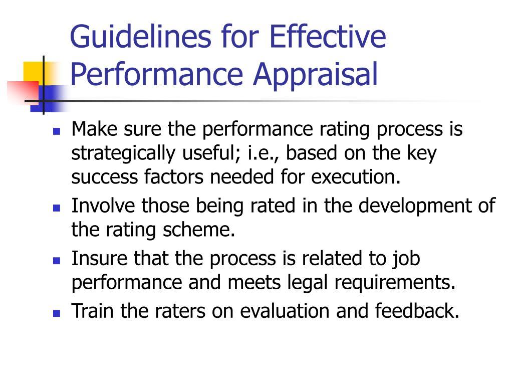 PPT - Performance Appraisal & Management PowerPoint