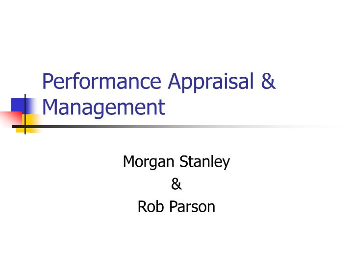 performance appraisal management n.