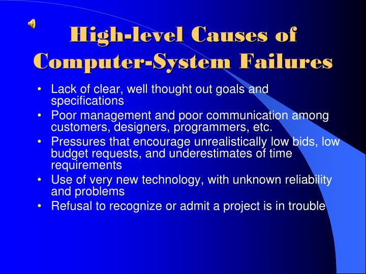 High-level Causes of Computer-System Failures