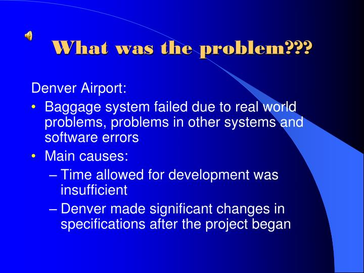 What was the problem???