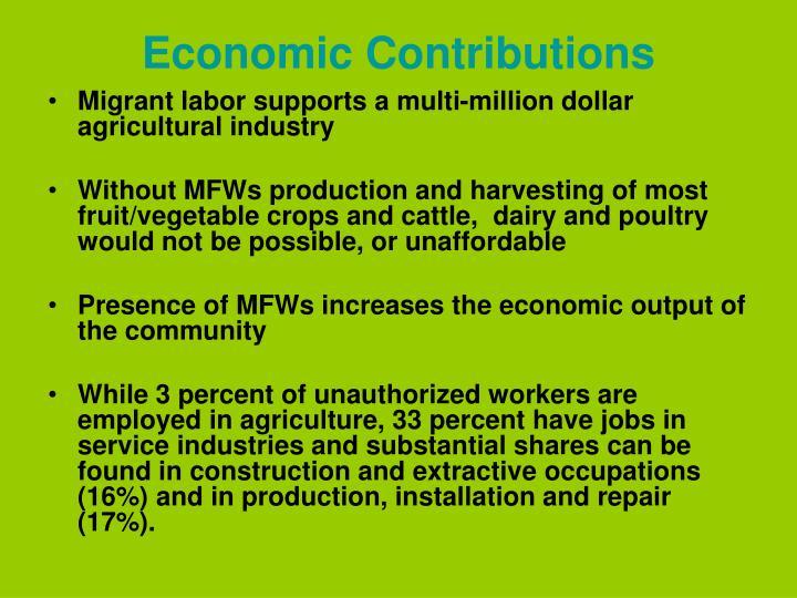 Economic Contributions
