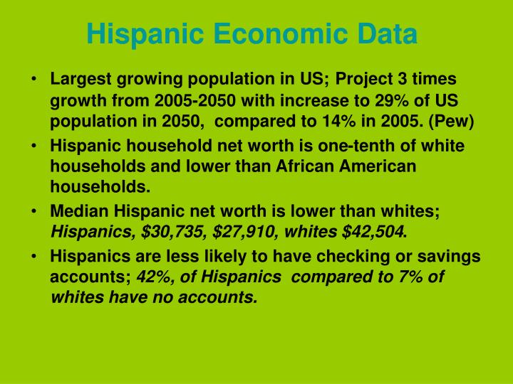 Hispanic Economic Data