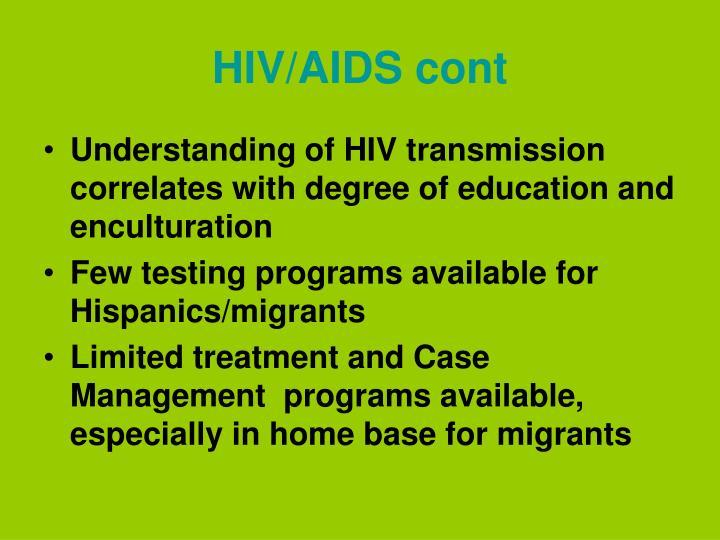 HIV/AIDS cont