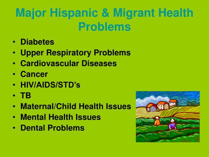 Major Hispanic & Migrant Health Problems