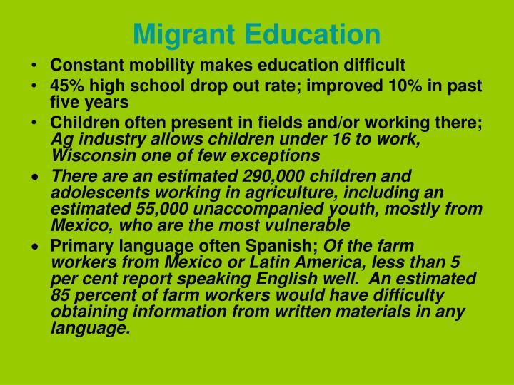 Migrant Education