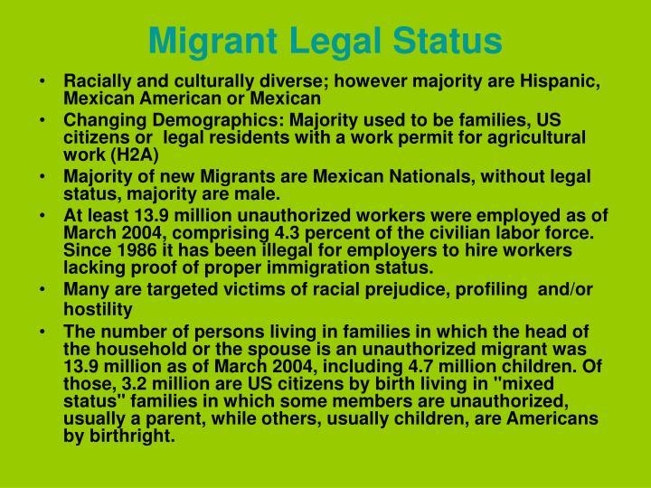 Migrant Legal Status
