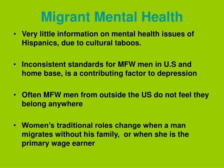 Migrant Mental Health