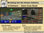 id software game case study
