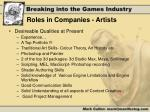 roles in companies artists1