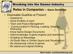 roles in companies game designers1