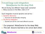 toward large scale integration metaquerier for the deep web