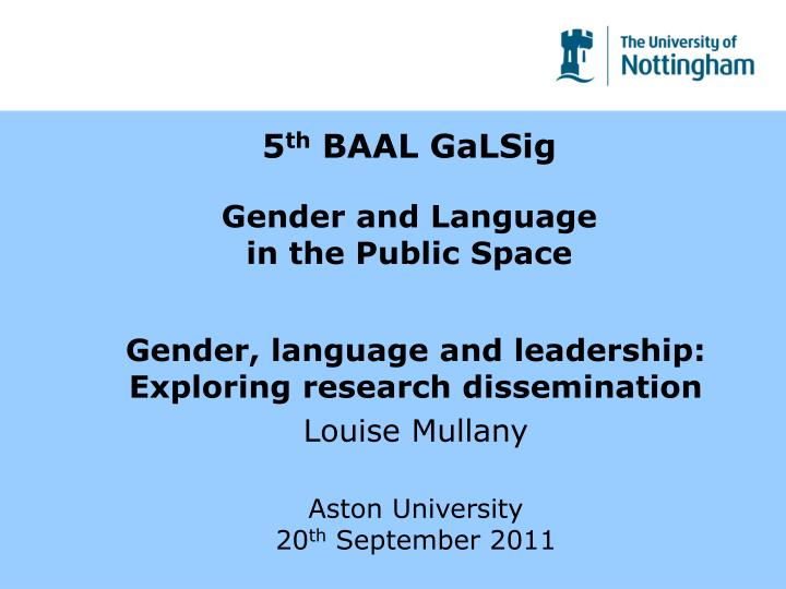 5 th baal galsig gender and language in the public space n.