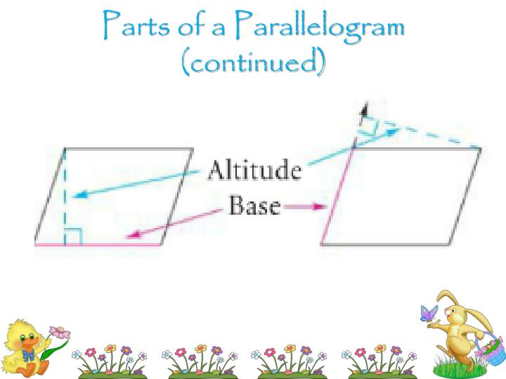 Parts of a Parallelogram (continued)
