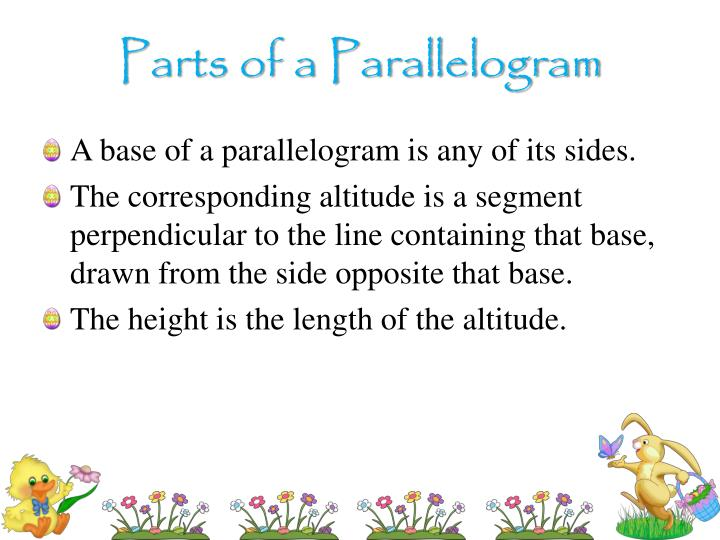 Parts of a Parallelogram