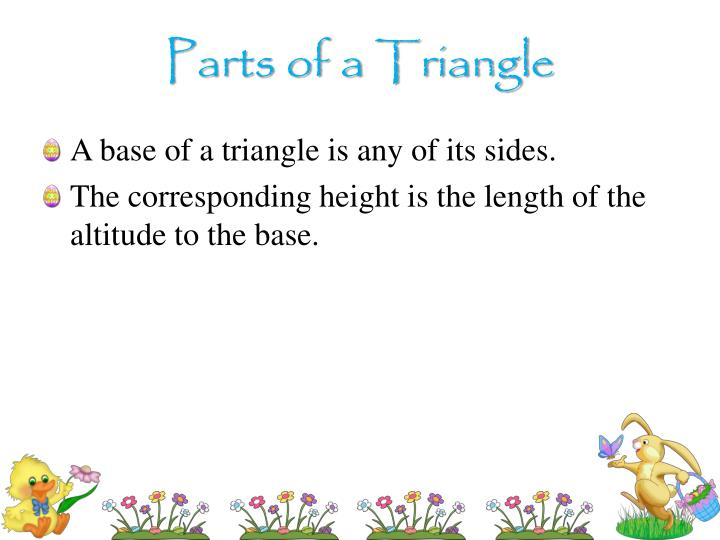 Parts of a Triangle