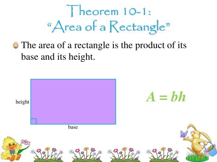 Theorem 10-1: