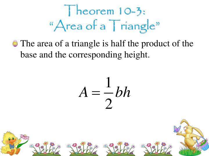 Theorem 10-3: