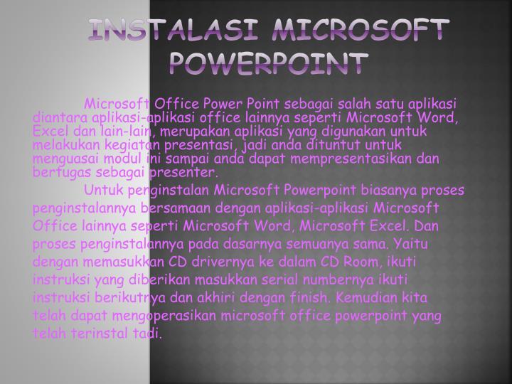 Instalasi microsoft powerpoint