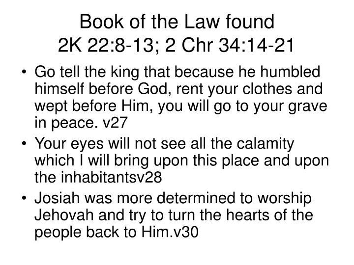 Book of the Law found