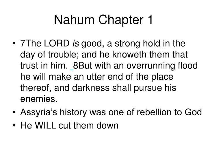 Nahum Chapter 1