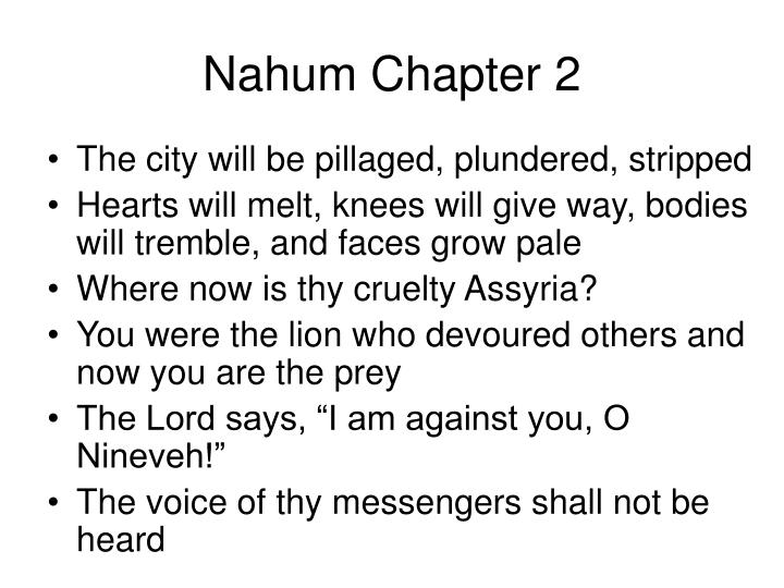 Nahum Chapter 2