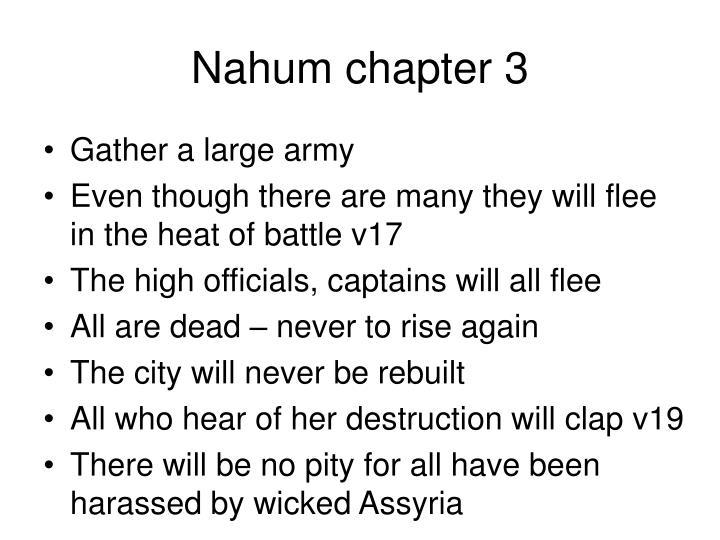 Nahum chapter 3