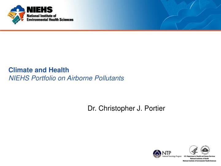 climate and health niehs portfolio on airborne pollutants n.