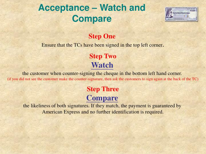 Acceptance – Watch and Compare