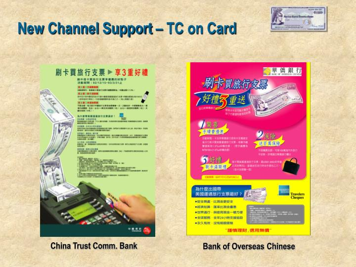New Channel Support – TC on Card