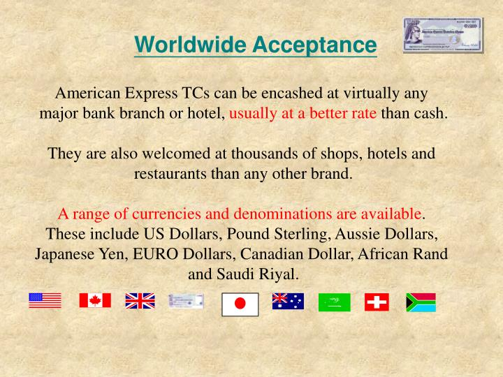 Worldwide Acceptance
