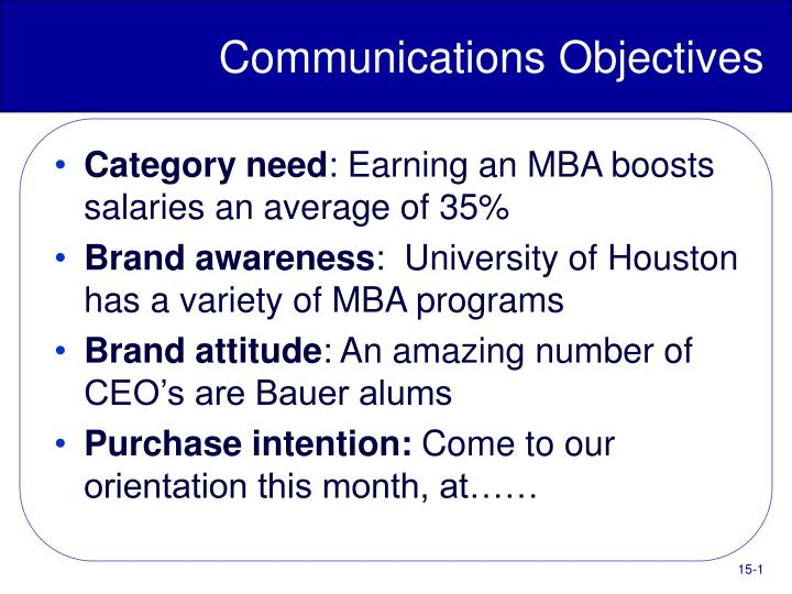 PPT - Communications Objectives PowerPoint Presentation - ID:5488084