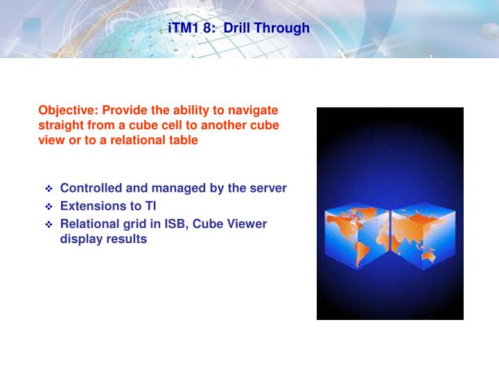 iTM1 8:  Drill Through
