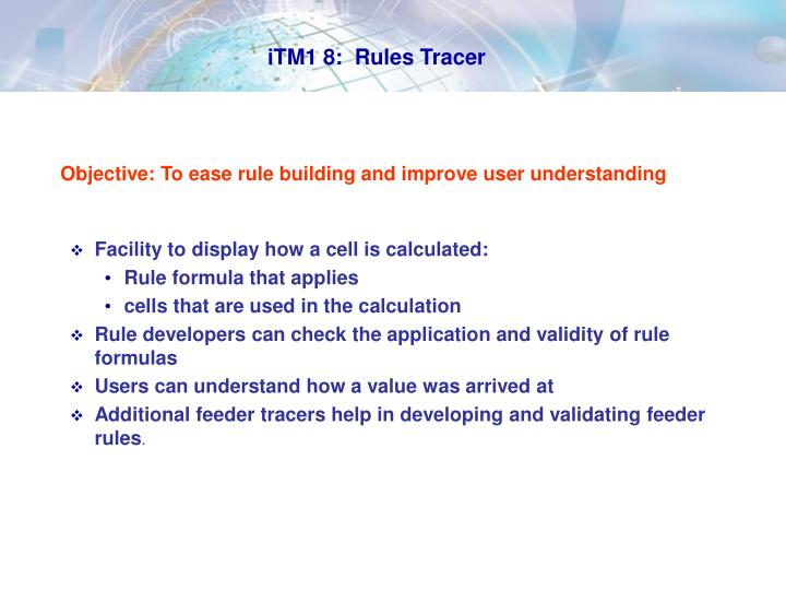 iTM1 8:  Rules Tracer