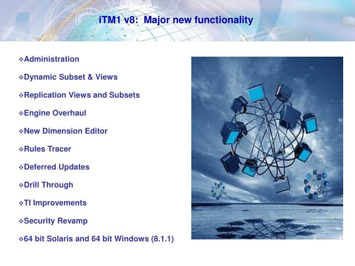 iTM1 v8:  Major new functionality