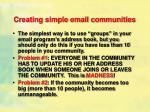 creating simple email communities