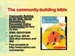 the community building bible