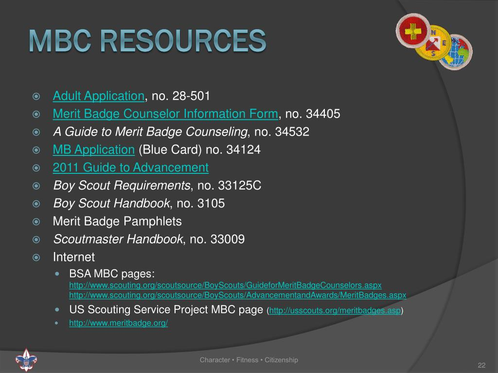 PPT - Ward Merit badge counselor Training PowerPoint