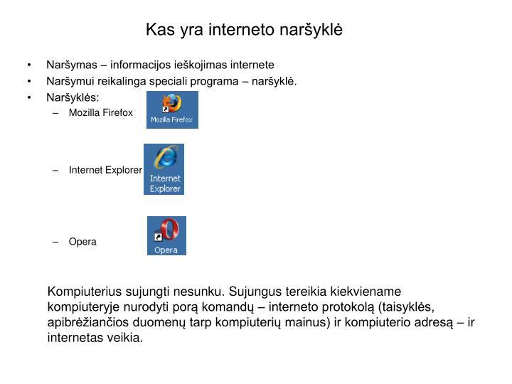 Kas yra interneto naršyklė