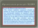 optimization principle alara