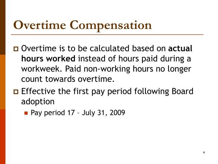 overtime pay essay Some people get excited about working overtime, seeing nothing but dollar signs while occasional overtime can be a blessing if it equates to some unexpected cash, in the long run there can be some major disadvantages that will have you thinking twice about over-extending yourself overtime can take.