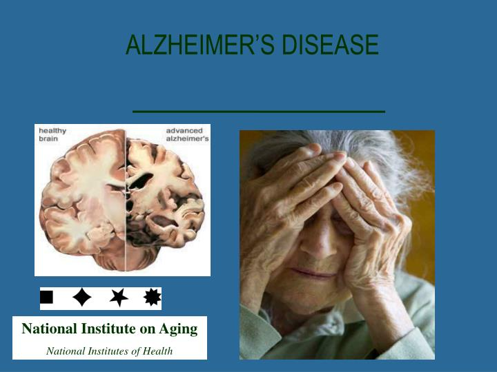 the alzheimers disease Alzheimers is the most common form of dementia a progressive disease beginning with mild memory loss possibly leading to loss of the ability to carry on a conversation and respond to the environment.