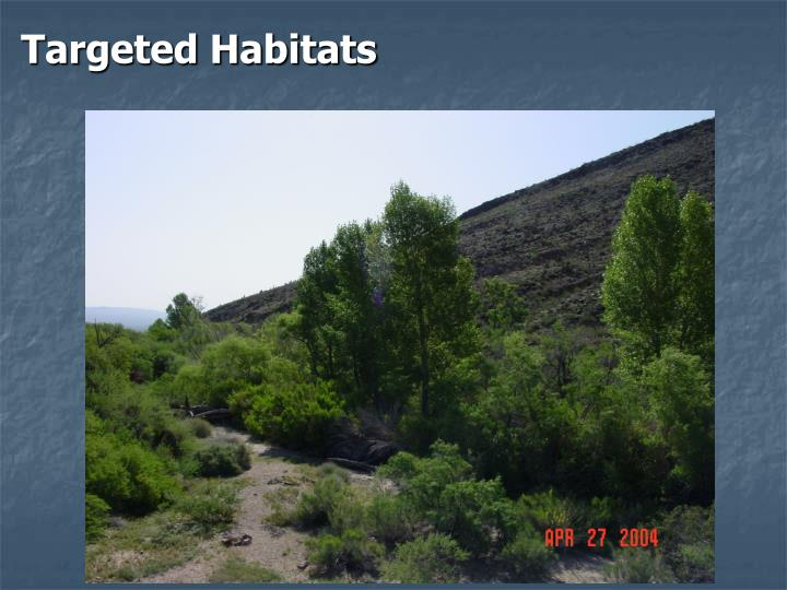 Targeted Habitats