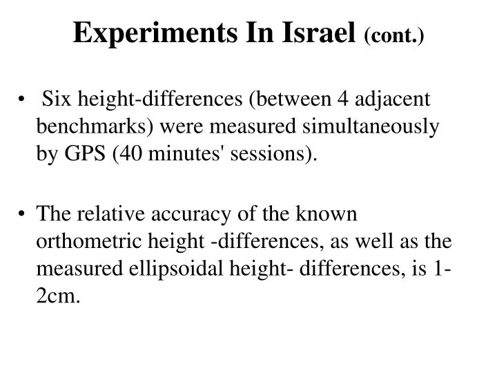 Experiments In Israel