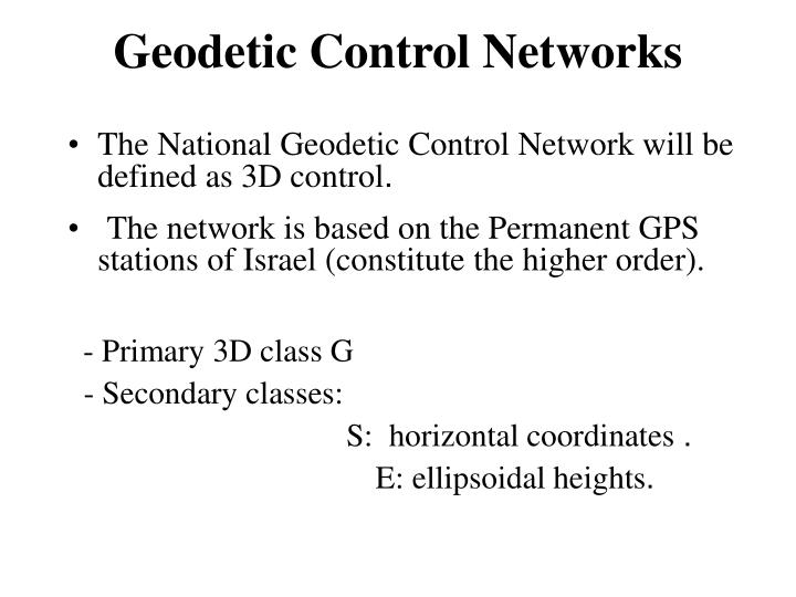 Geodetic Control Networks