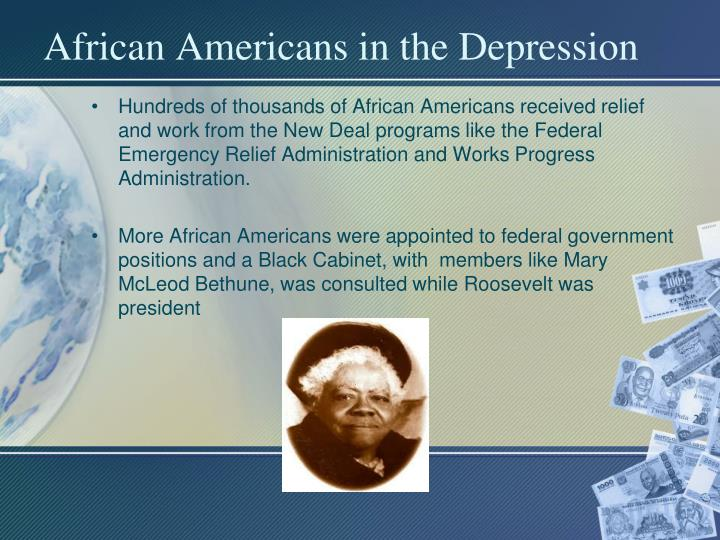 African Americans in the Depression