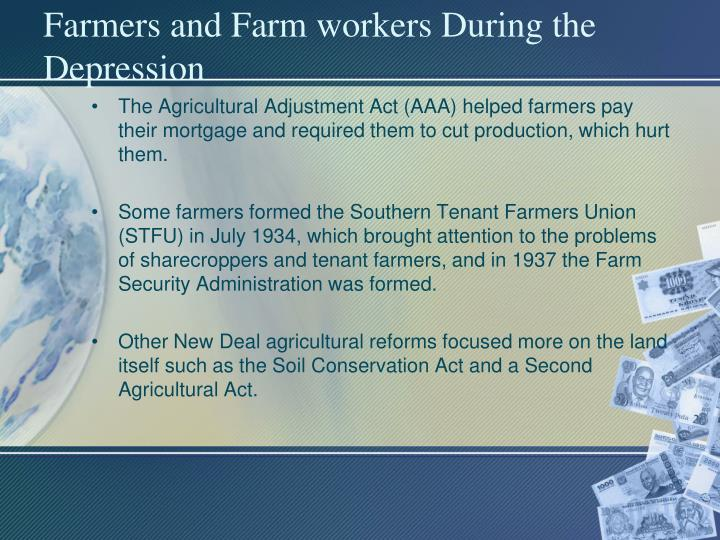 Farmers and Farm workers During the Depression