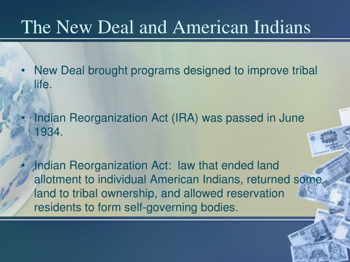 The New Deal and American Indians