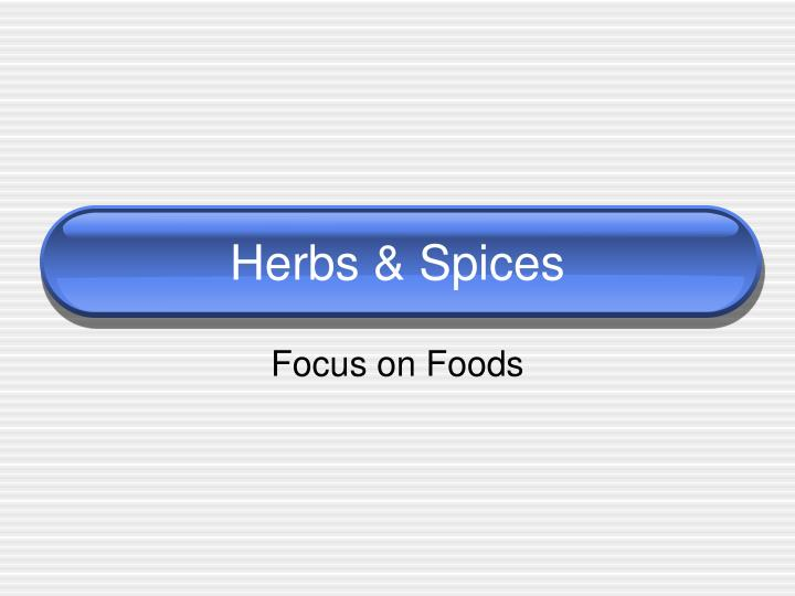 herbs spices n.