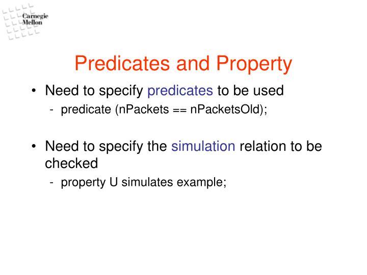 Predicates and Property