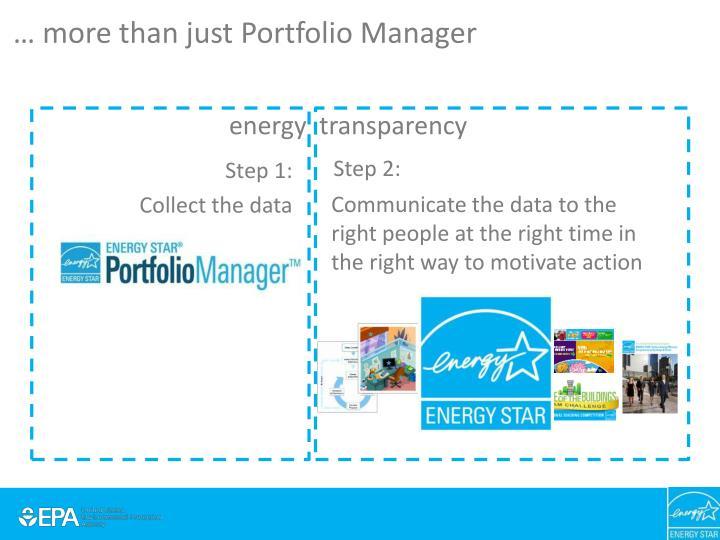 … more than just Portfolio Manager